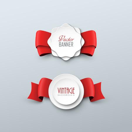 TIquettes en papier dans le style vintage Banque d'images - 48062121