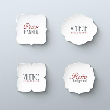 Satz von Papier-Etiketten im Vintage-Stil