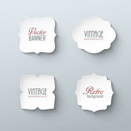 sale sticker: Set of paper labels in vintage style