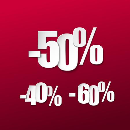 Vector paper sale percents