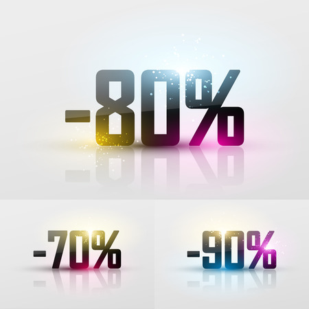 glossy: Vector glossy sale percents