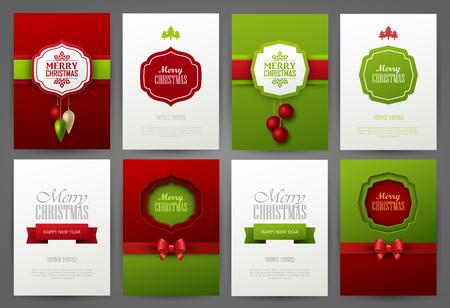 collection: Fondos de la Navidad fijaron Vectores