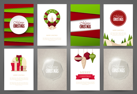 page: Christmas backgrounds set