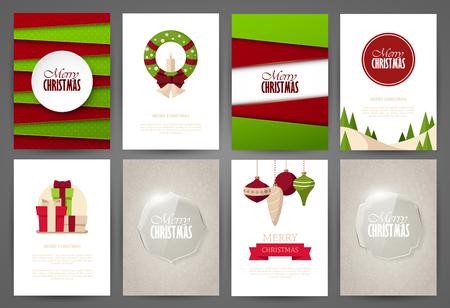 portadas: Fondos de la Navidad fijaron Vectores