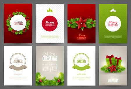 merry xmas: Christmas backgrounds set