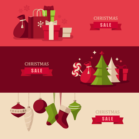discount banner: Christmas concept illustrations Illustration