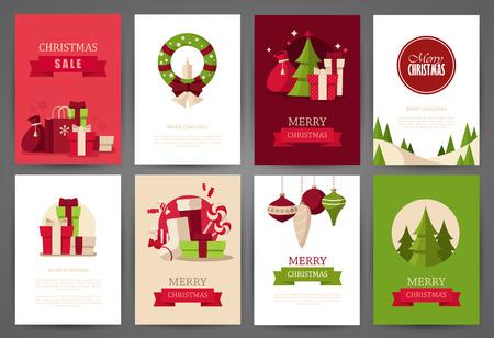 christmas flyer background: Christmas backgrounds set