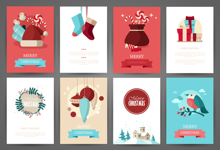 Christmas backgrounds set Imagens - 48959646