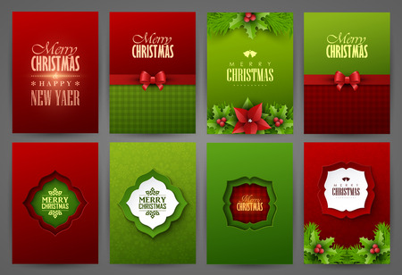 Christmas backgrounds set Imagens - 48959677