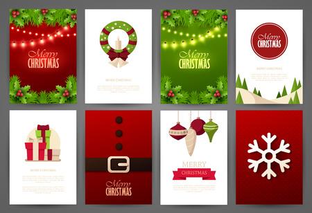 holiday invitation: Christmas backgrounds set