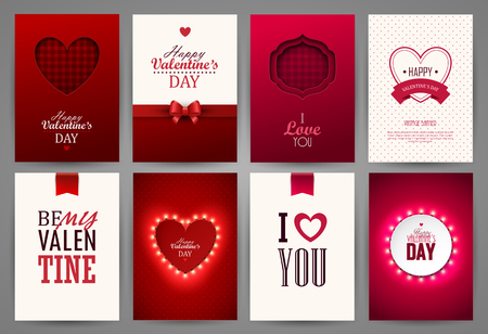 Valentines day backgrounds set.