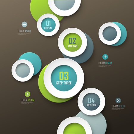 Infographic template. Çizim