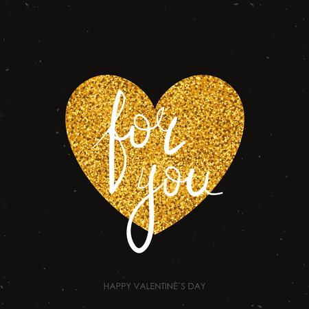 tarjeta de felicitación de San Valentín. caligrafía moderna. Dibujado a mano elementos de diseño. las letras escritas a mano. Ilustración de vector