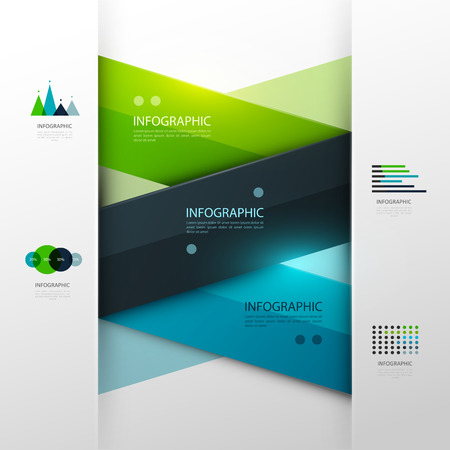 fondo geometrico: Negocio plantilla de infografía. Ilustración del vector.