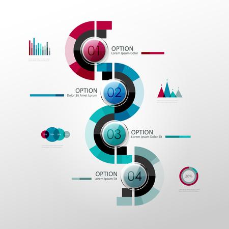 web design elements: Vector timeline infographic template. Design elements for presentation or web design.