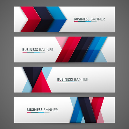 Set of banner templates. Bright modern abstract design.