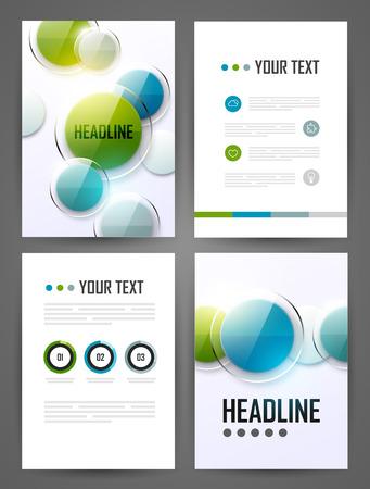 Set of brochure design templates. Design elements. Bright modern backgrounds.