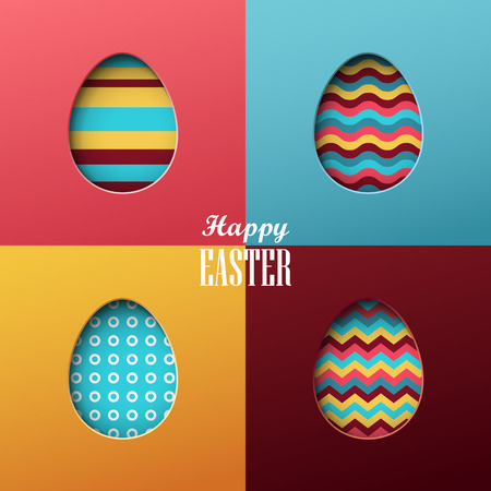 Bright vector easter background Vectores