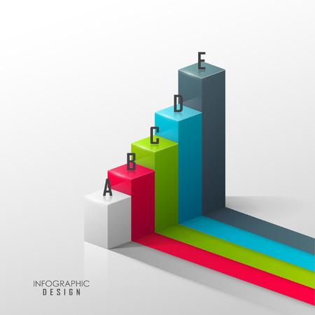 Modelo del vector para el diseño infográfico o web Ilustración de vector