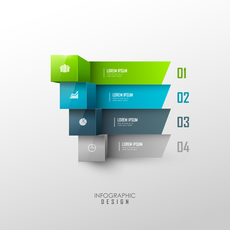 bar table: Vector template for infographic or web design