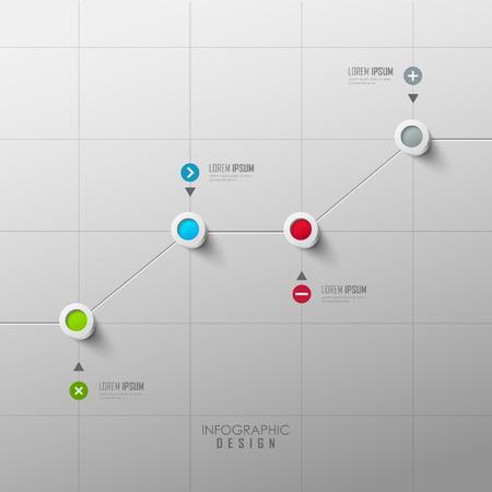 concepto: Diseño del vector línea de tiempo infografía Vectores