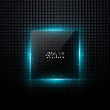 square: Abstract vector background with glowing light