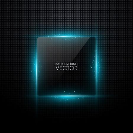 cuadrado: Fondo abstracto del vector con la luz que brilla intensamente