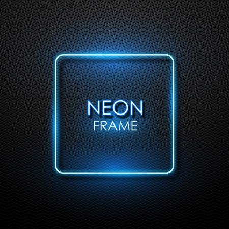 rectangular: Vector banner with neon glowing.