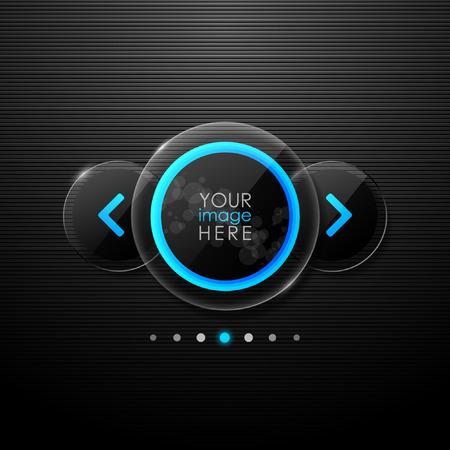 black button: Vector web gallery design Illustration