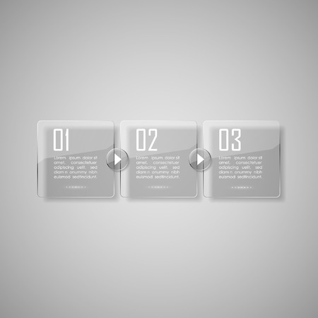 panels: Vector glossy panels