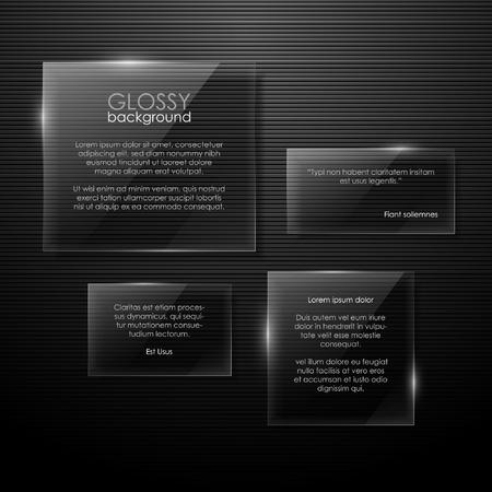panels: Vector glass panels Illustration