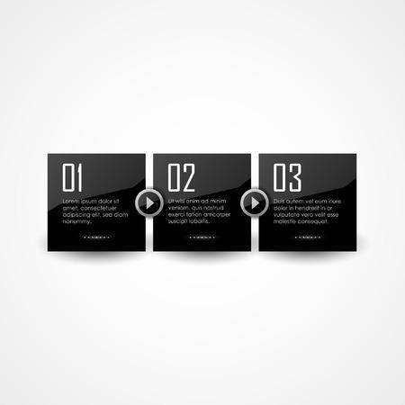 panels: Vector black glossy panels Illustration