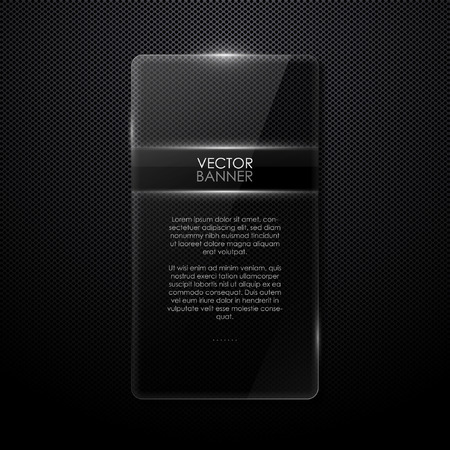 glass panel: vector background with glass panel