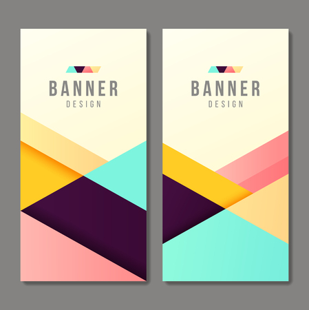 banner design: Set of banner templates. Bright modern abstract design.
