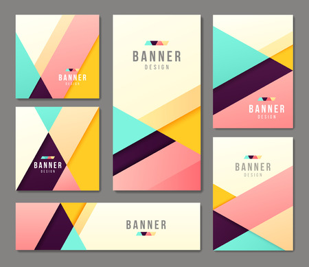 abstract business: Set of banner templates. Bright modern abstract design.