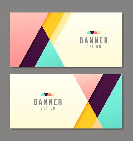presentation card: Set of banner templates. Bright modern abstract design.