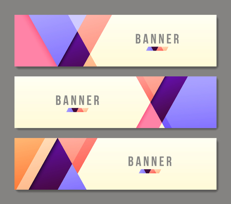Set of banner templates. Bright modern abstract design. Vetores