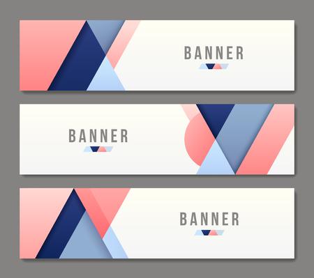 Set of abstract banner templates. Bright modern vector design. Illustration
