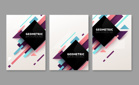 Abstract geometric banners. Brochure template. Vector illustration.