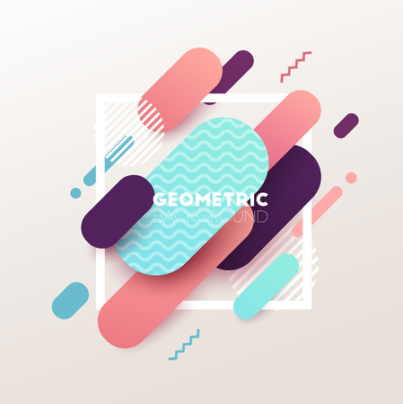 Abstract geometric background. Vector illustration.