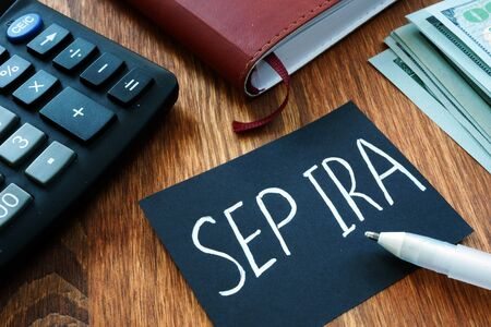 Writing note shows the text Sep ira Stock Photo