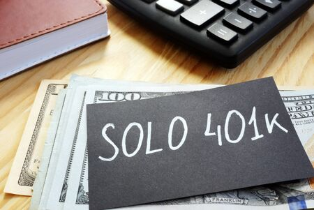 Writing note shows the text solo 401k