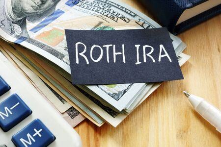 Conceptual hand written text showing ROTH IRA
