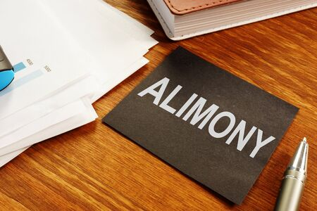 Business photo shows the printed text alimony