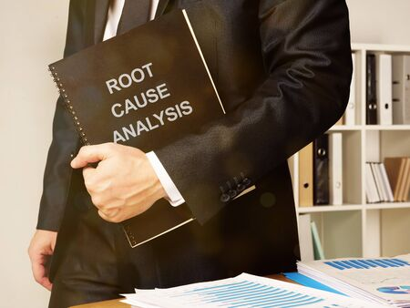 Business photo shows hand written text root cause analysis Stock Photo