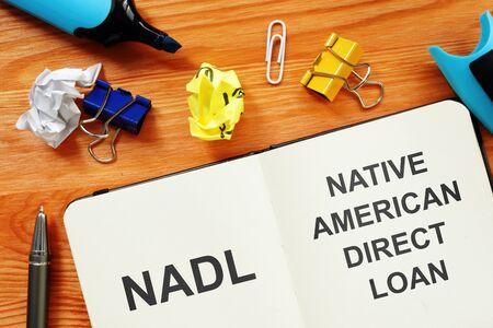 Conceptual photo showing printed text Native American Direct Loan NADL 版權商用圖片