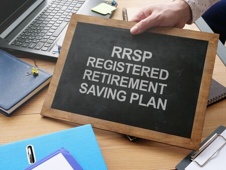 Writing note shows the text RRSP Registered Retirement Saving Plan