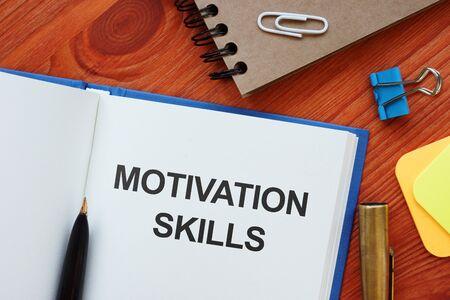 Text sign showing hand written words Motivation Skills 版權商用圖片