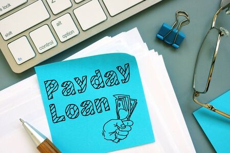 Payday Loan is shown on the conceptual business photo