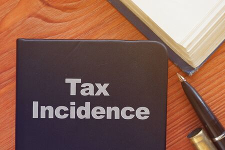 Tax Incidence is shown on the conceptual business photo